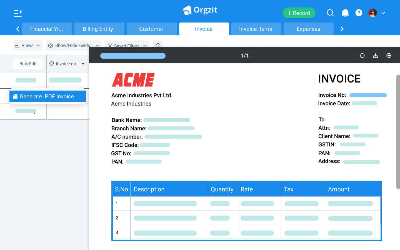 Orgzit Automate Document