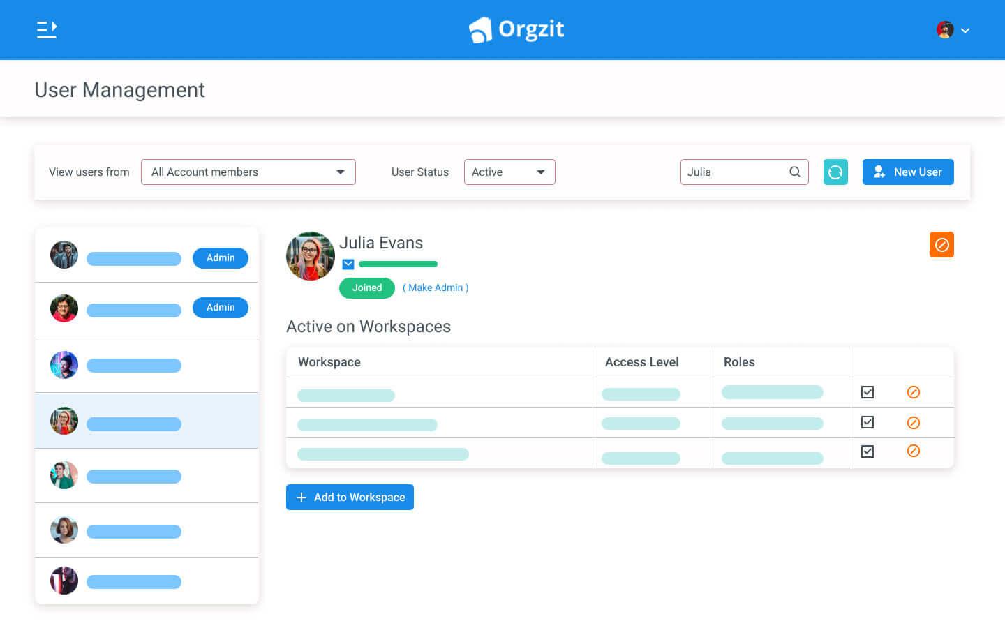 Orgzit Organize Access Control